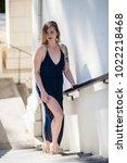 alluring young woman in sheer...   Shutterstock . vector #1022218468