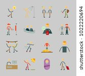 icons about human with man ... | Shutterstock .eps vector #1022220694