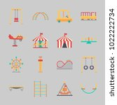 icons about amusement park with ... | Shutterstock .eps vector #1022222734