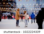 theme ice skating rink and... | Shutterstock . vector #1022224339