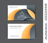 business card design with... | Shutterstock .eps vector #1022224549