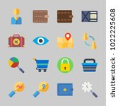 icons about commerce with... | Shutterstock .eps vector #1022225608