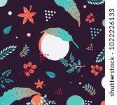 black floral spring seamless... | Shutterstock .eps vector #1022226133