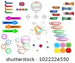 infographic elements and icon... | Shutterstock .eps vector #1022226550