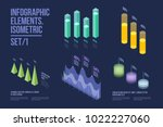 set of colorful infographic... | Shutterstock .eps vector #1022227060