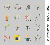 icons about human with child ... | Shutterstock .eps vector #1022228578