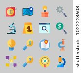icons about inspiration with... | Shutterstock .eps vector #1022228608