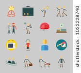 icons about human with male ... | Shutterstock .eps vector #1022228740