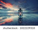 Vintage Lantern At Sunset ...