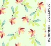 seamless spring watercolor... | Shutterstock . vector #1022229370