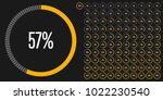 set of circle percentage... | Shutterstock .eps vector #1022230540
