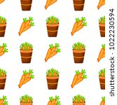 easter carrot vector cartoon... | Shutterstock .eps vector #1022230594
