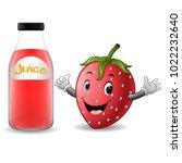vector illustration of bottle...   Shutterstock .eps vector #1022232640