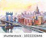 Panoramic View Of New York And...