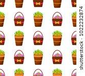 easter vector cartoon seamless... | Shutterstock .eps vector #1022232874