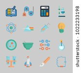 icons about science with petri... | Shutterstock .eps vector #1022233198