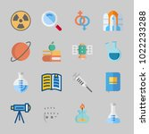 icons about science with... | Shutterstock .eps vector #1022233288