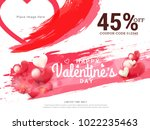 illustration of valentines day... | Shutterstock .eps vector #1022235463