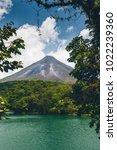 arenal volcano  costa rica  | Shutterstock . vector #1022239360
