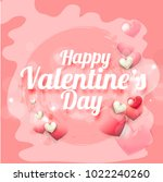 illustration of valentines day... | Shutterstock .eps vector #1022240260
