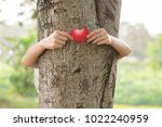 love nature concept  woman give ...   Shutterstock . vector #1022240959