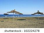 mediterranean empty beach in... | Shutterstock . vector #102224278