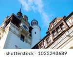 fragment of peles palace... | Shutterstock . vector #1022243689
