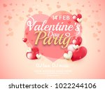 illustration of valentines day... | Shutterstock .eps vector #1022244106