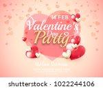 illustration of valentines day... | Shutterstock .eps vector #1022244106