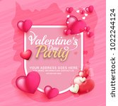 illustration of valentines day... | Shutterstock .eps vector #1022244124