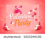 illustration of valentines day... | Shutterstock .eps vector #1022244130