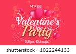 illustration of valentines day... | Shutterstock .eps vector #1022244133