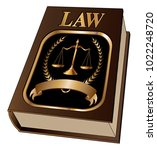 law book with seal is an... | Shutterstock .eps vector #1022248720