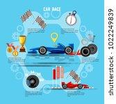 car racing sport concept. tyre...   Shutterstock .eps vector #1022249839