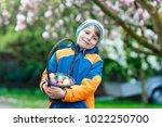 cute adorable little kid boy...   Shutterstock . vector #1022250700