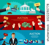 auction and bidding banners.... | Shutterstock .eps vector #1022250778