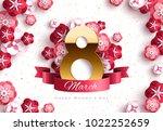 march 8. international women's... | Shutterstock .eps vector #1022252659