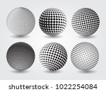set of dotted spheres.vector... | Shutterstock .eps vector #1022254084