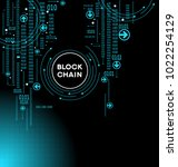 blockchain network concept  ... | Shutterstock .eps vector #1022254129