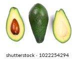 half avocado isolated on white...   Shutterstock . vector #1022254294