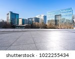 empty marble floor with modern... | Shutterstock . vector #1022255434