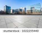 empty marble floor with modern... | Shutterstock . vector #1022255440