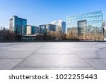 empty marble floor with modern... | Shutterstock . vector #1022255443