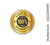 golden sticker money back with... | Shutterstock .eps vector #1022256490