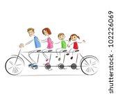 vector illustration of family... | Shutterstock .eps vector #102226069