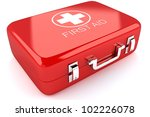 3d image of red first aid box... | Shutterstock . vector #102226078