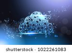cloud computing service... | Shutterstock .eps vector #1022261083