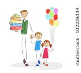 vector illustration of father... | Shutterstock .eps vector #102226114