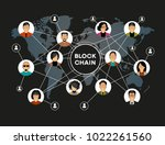 blockchain network concept  ... | Shutterstock .eps vector #1022261560