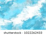 blue  celestial watercolor... | Shutterstock . vector #1022262433